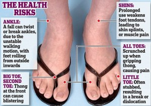 health warning flip flops