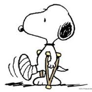 snoopy broken foot